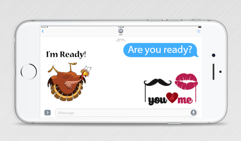 iMessage Sticker Pack, are you ready sticker, turkey ticker, love sticker